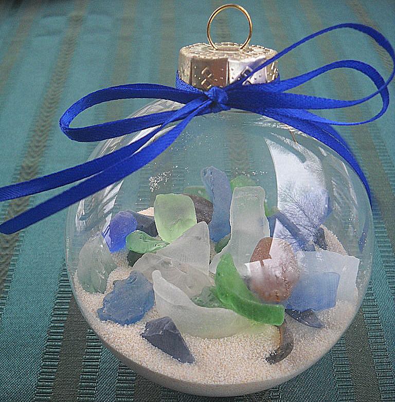 Beach Glass Ornaments Original Cyn Jewelry
